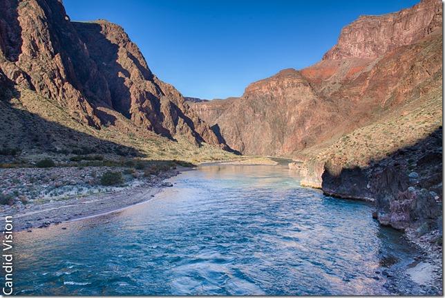 Colorado River from Silver Bridge in Grand Canyon