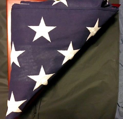 The flag from my father's casket.