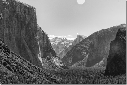 The Classic Tunnel View of Yosemite Valley
